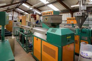 Six extruding machines in the Leedum Factory